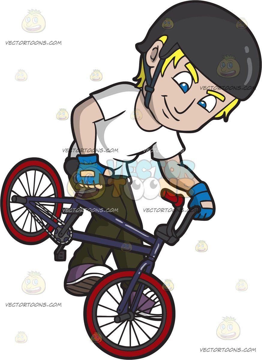 A Confident Rider Doing A Footjam Bmx Trick  Clipart of Men  Pinterest