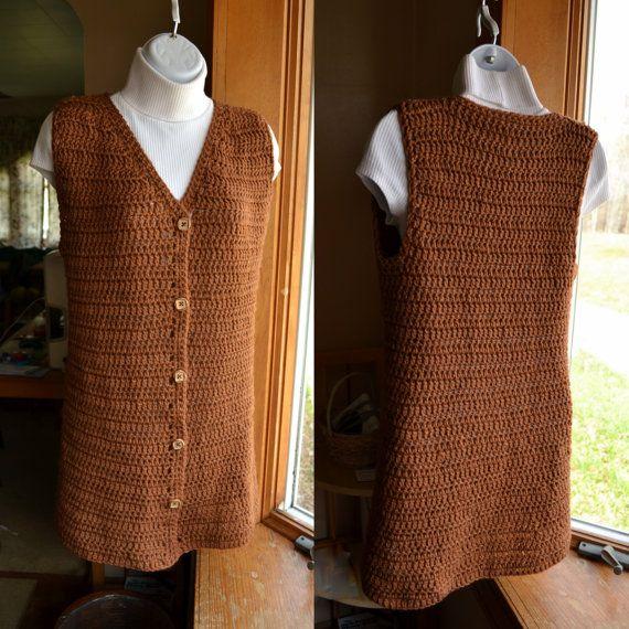 Crochet Pattern Ladies Vest Crochet Swing Vest By Lazytcrochet