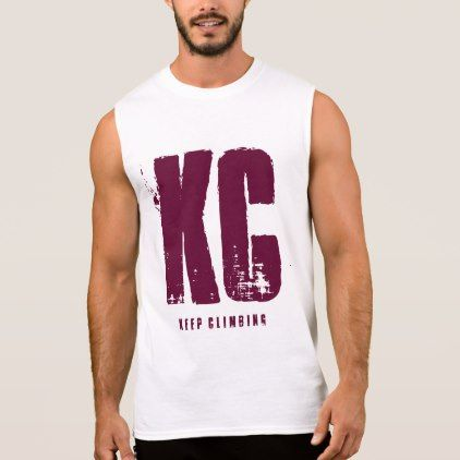 Mens Trendy Burgundy KC number 24 urban fashion Sleeveless Shirt - typography gifts unique custom diy