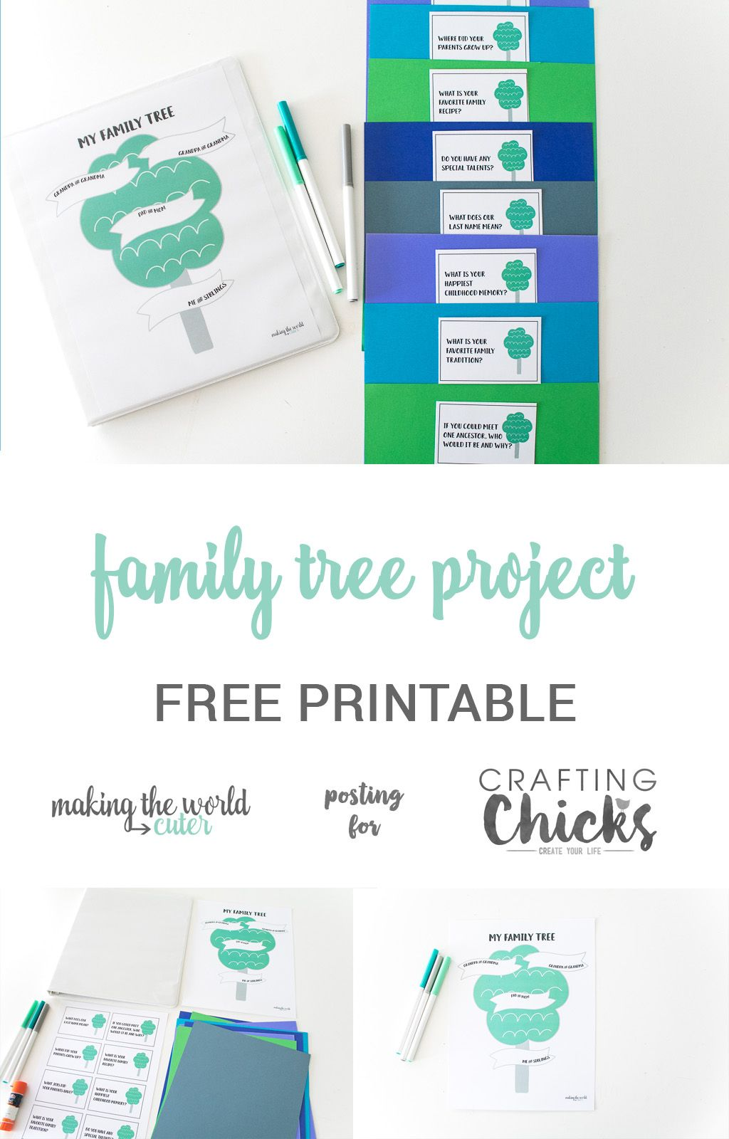 Family Tree Project For Kids With Free Printable