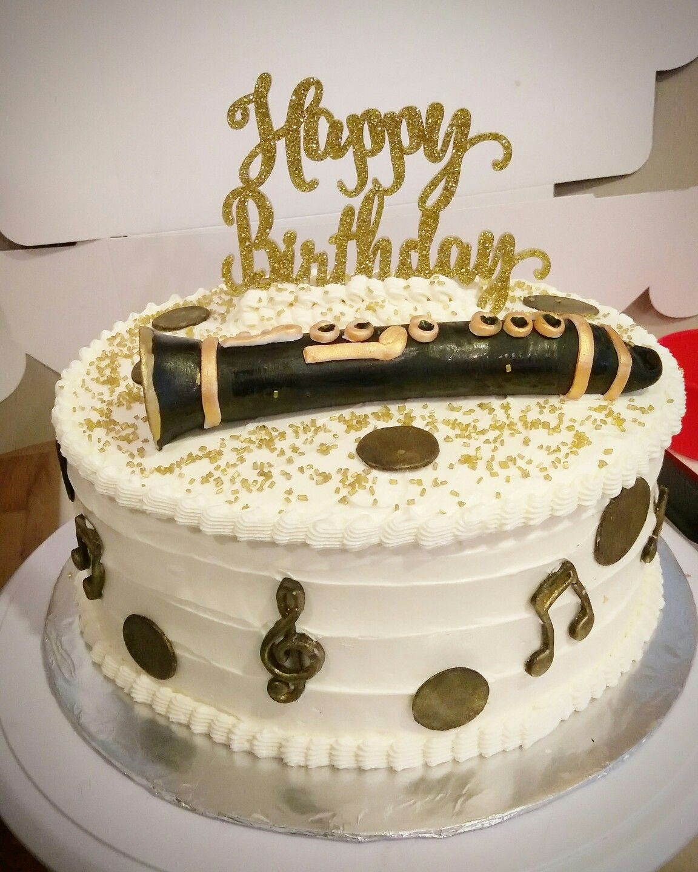 Music Themed Cake. Chocolate Mocha Cake With Mocha