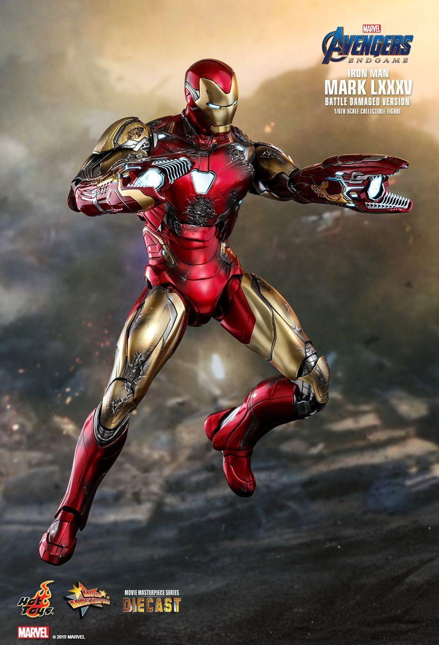 Hot Toys Avengers Endgame Iron Man Mark Lxxxv Battle Damaged Version 1 6th Scale Collectible Fig Marvel Superhero Posters Hulk Buster Art Iron Man Armor