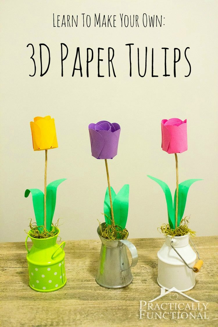 How To Make Paper Flowers D Paper Tulips  d paper Centerpieces
