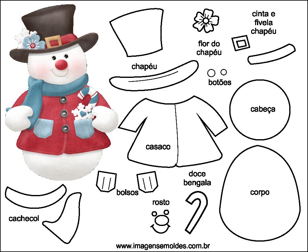 Aparador Imaginus Tabaco ~ Molde de Natal para EVA Feltro e Artesanato 44 feltro