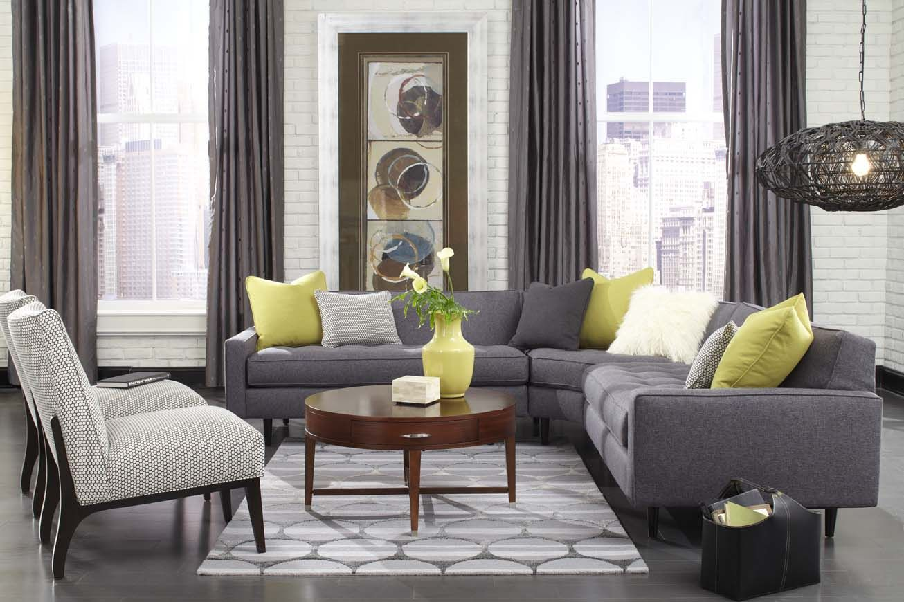 Tufted Sofa Brady Sectional at Piazza Home in Summerville SC