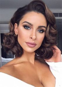 Gorgeous Vintage Waves Prom Hairstyles For Medium Hair Prom Hairstyles For Short Hair Medium Hair Styles Vintage Curly Hair