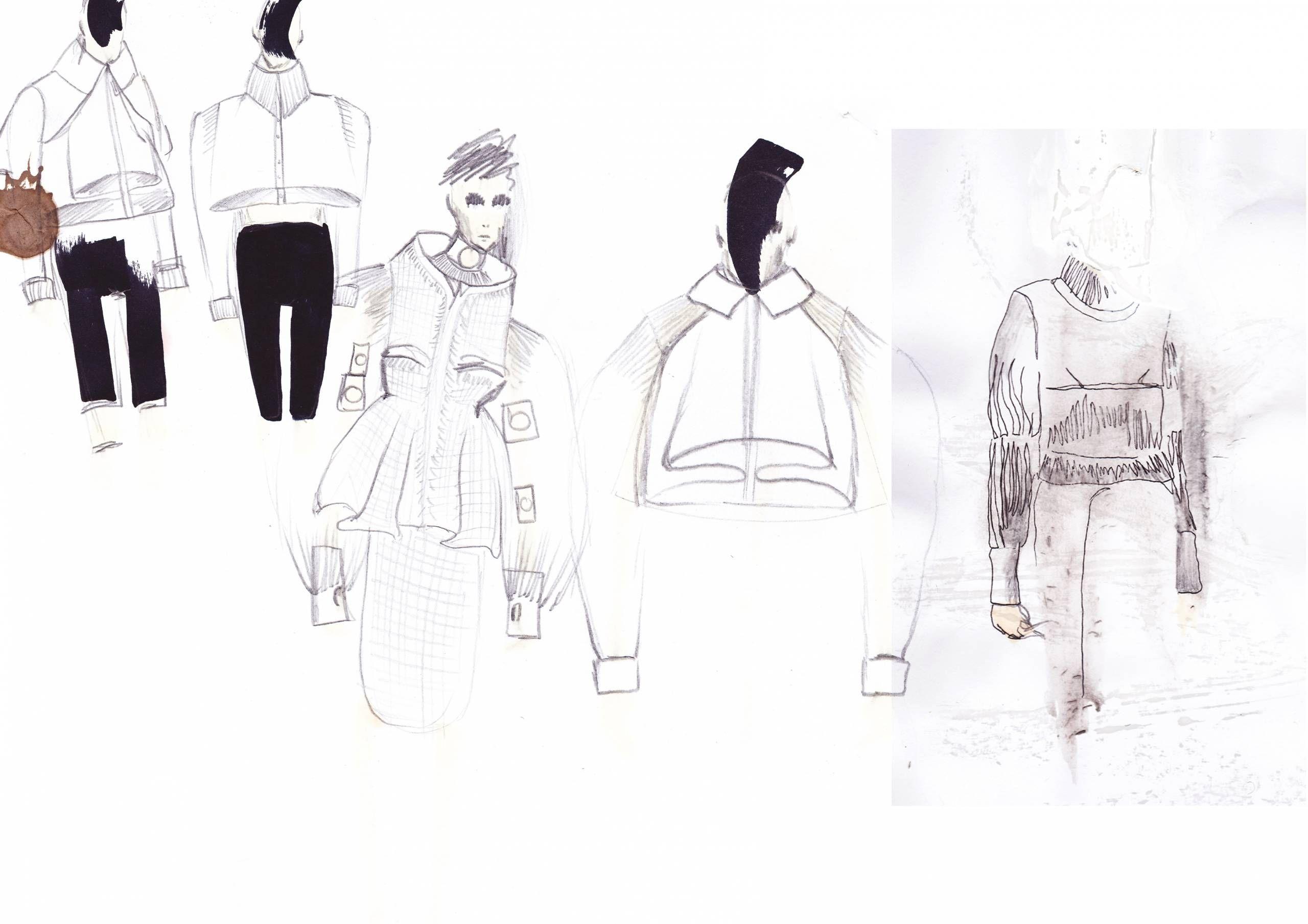 Shirt design sketches - Fashion Sketchbook Fashion Sketches For White Shirt Project Fashion Portfolio Kevin Germanier
