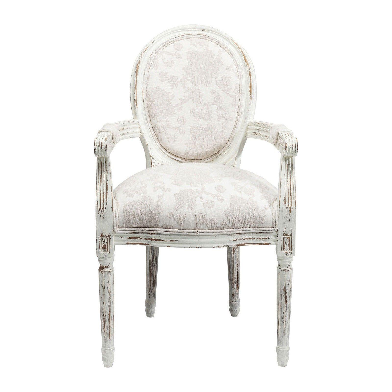 Chaise Avec Accoudoirs Baroque Blanche Louis Kare Design Chaise Design Fauteuil Deco Kare Design