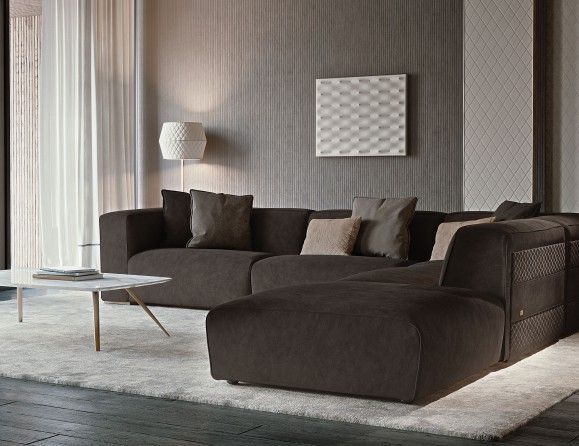 Mobili Rugiano ~ Nella vetrina rugiano freud 6084 f6 sectional sofa in leather