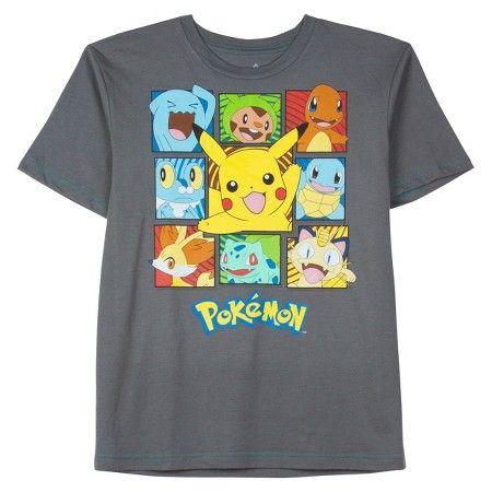 Boys' Pokémon Graphic Short sleeve T-Shirt - Charcoal Heather