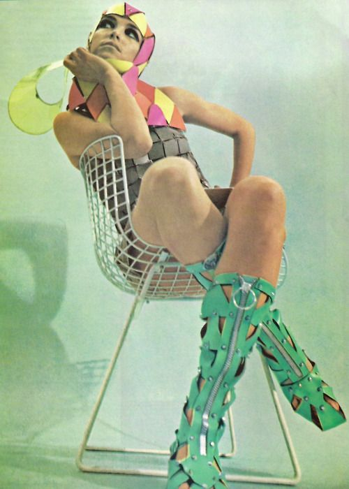 60s space age fashion.