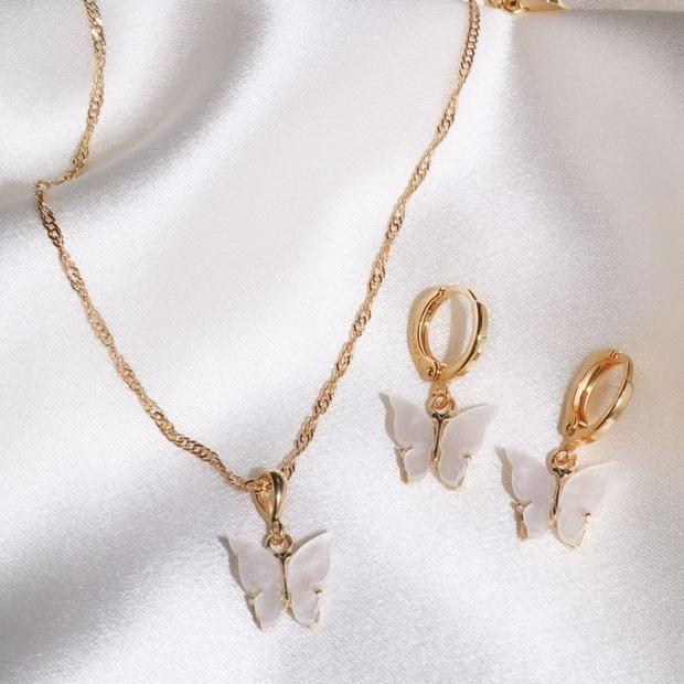 Pearl Butterfly Set