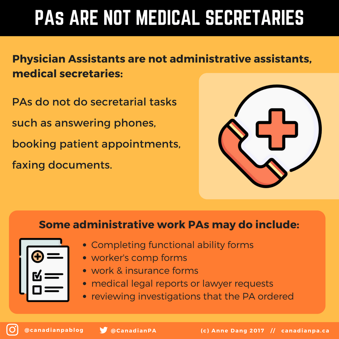 Physician Assistants are not Medical Secretaries | PA