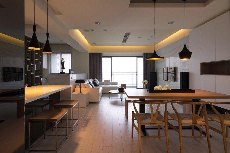 cuisine ouverte sur salon en 55 idées ''open space'' superbes ... - Salon Salle A Manger Cuisine Ouverte