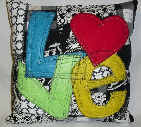 Grafitti Love Pillow Cover by nikkipaulson on Etsy, $35.00