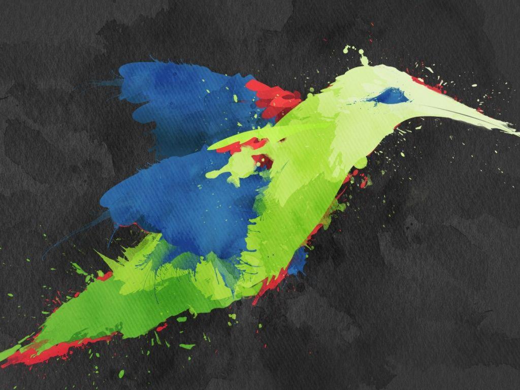 Hummingbird Artwork HD Desktop Wallpaper