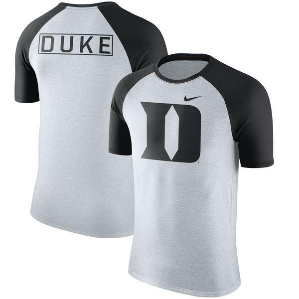 Duke Blue Devils Nike Oatmeal Jersey Hook Tri-Blend Raglan T-Shirt - Natural - $35.99