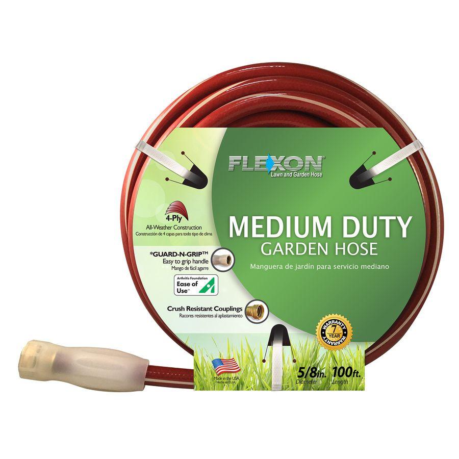 Flexon 5 8 In X 100 Ft Medium Duty Red Garden Hose Law58100v2 In