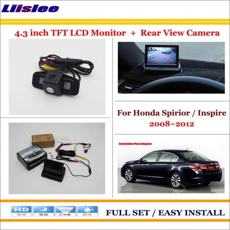 Honda Spirior Inspire 2008 2012 Rear Camera 4 3 Tft Lcd Screen Monitor Sale Oempartscar Com Car Parking Camera Amg Car Rear View Camera