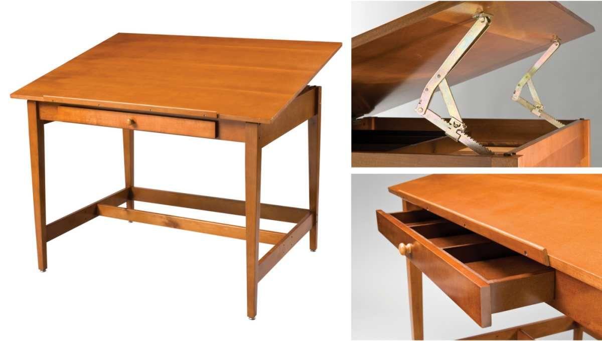 Alvin Vanguard Wood Drafting Table 36 X 48 Vintage Drawing Table Wood Drafting Table Drawing Table Drafting Table