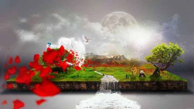 خلفية الاسبوع الطبيعة في الخيال Hd 61 مداد الجليد Art Painting Background