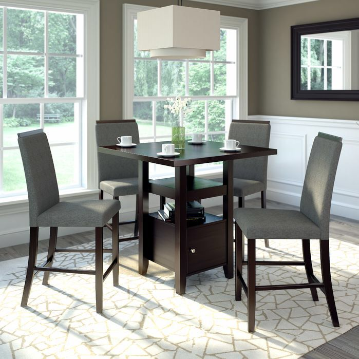Burgess 5 Pieces Counter Height Dining Set Dining Room Sets Counter Height Dining Sets Counter Height Dining Table