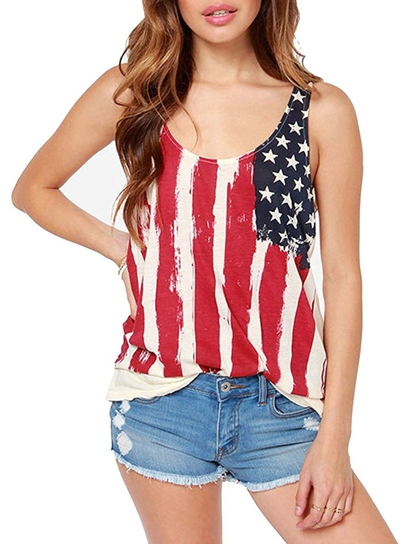 Women S Patriotic American Flag Print Lace Camisole Tank Top T Shirt Us Flag 03 Us Flag 03 Ct17yk9mxqg Clothes Fashion Tank Top Fashion