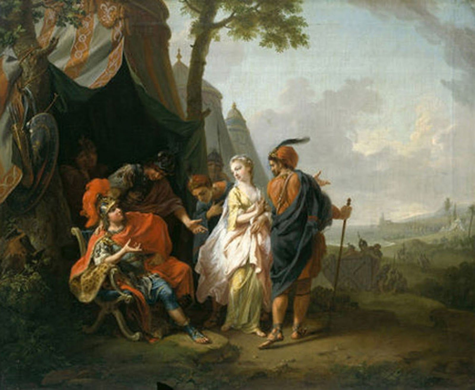 Johann Heinrich Wilhelm Tischbein - Briseis taken from the tent of Achilles. Tags trojan & Johann Heinrich Wilhelm Tischbein - Briseis taken from the tent of ...