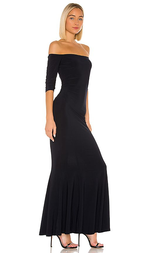 Womens Gowns | Norma Kamali Off The Shoulder Fishtail Gown