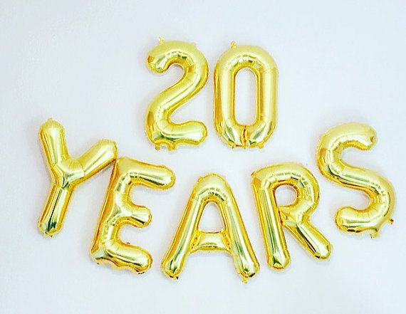 20 YEARS Balloon 20th Birthday Photo Prop By Girlygifts07 More