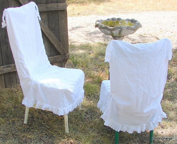 Chair Slipcover French Country Bleached Cotton By Junkexchange 45 00