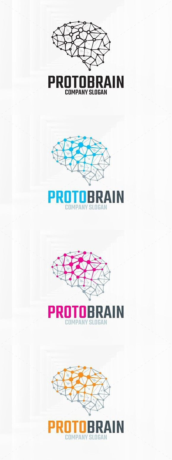 Download Proto Brain Logo Template   Brain logo, Logo templates ...