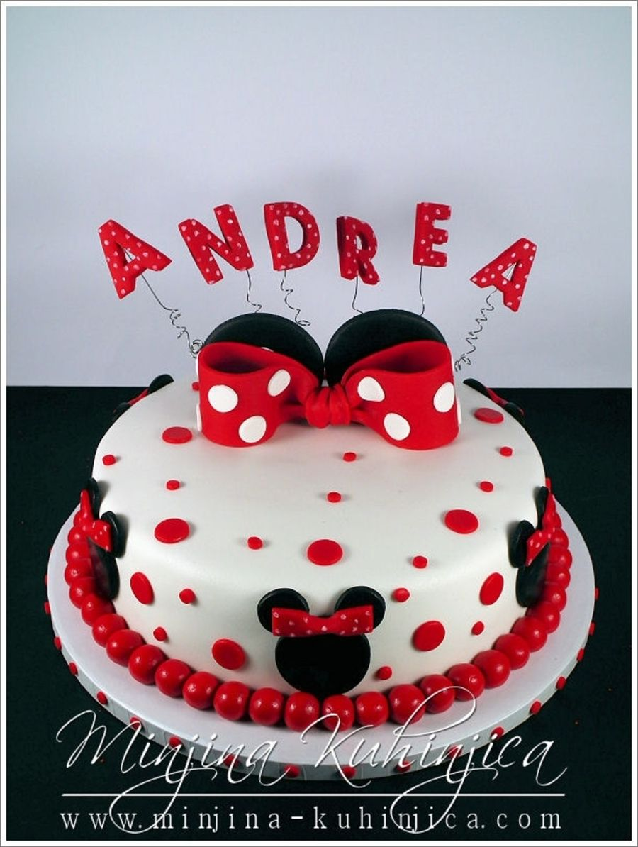 Minnie Mouse Cake On Cake Central Torten