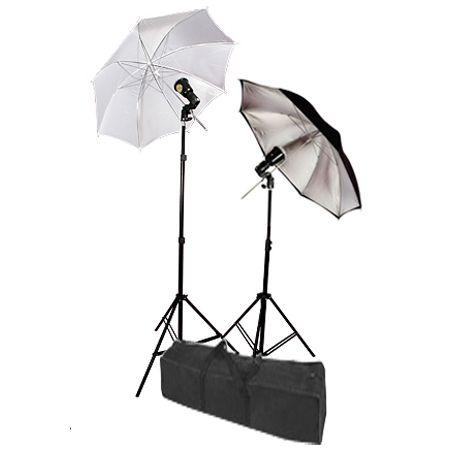 Umbrella Strobe Photo Lighting 2 Lights Flash Kit