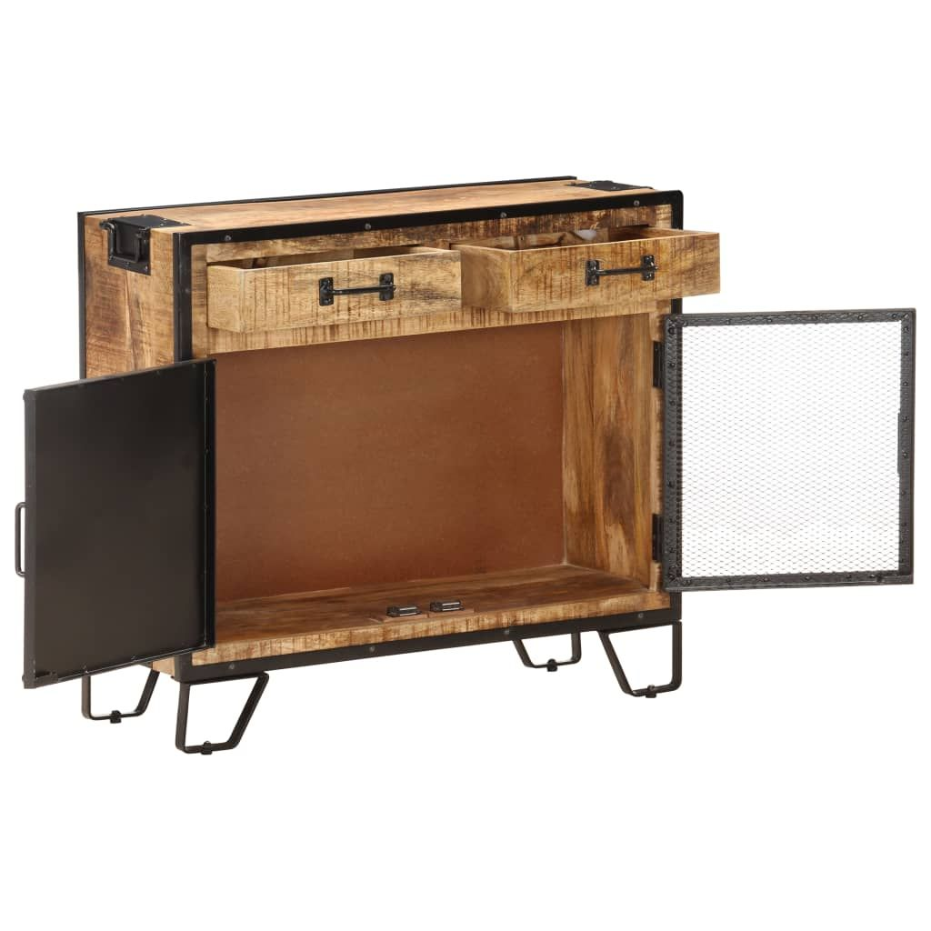 Sideboard 80x31x71 cm Solid Rough Mango Wood