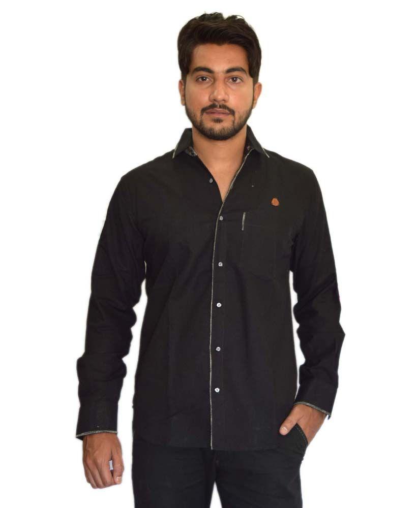 Solid Black Color Formal Shirt For Men | Mens Formals | Pinterest ...