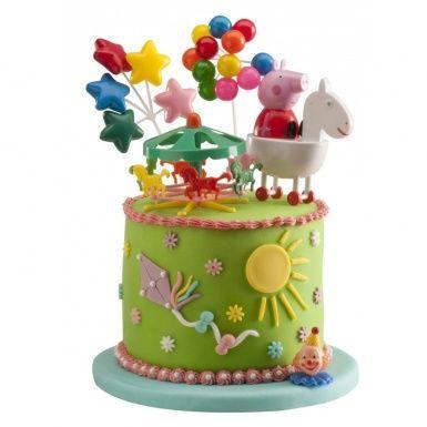 Decorations Gateaux Peppa Pig Taarten Versieren Peppa Pig Cake Varken Cake