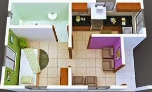Contoh Sketsa Rumah Minimalis Type 21 Chales Pequenos Decoracao Cozinha Pequena Simples Casas