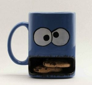 LOVE cookie monster mug by willie