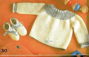 Casaquinho e sapatinhos nº30 - Corinne  Materiais:   100g de lã de 2 fios, na cor branca   50g de linha na cor azul   ag nº 2 1/2 ou 3   a...