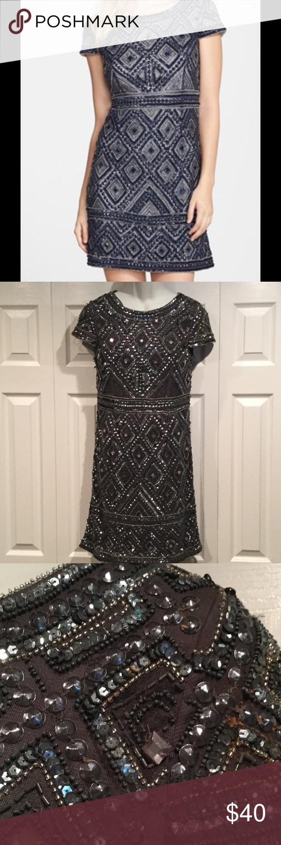 Adrianna papell sequin bodycon dress quartz valley