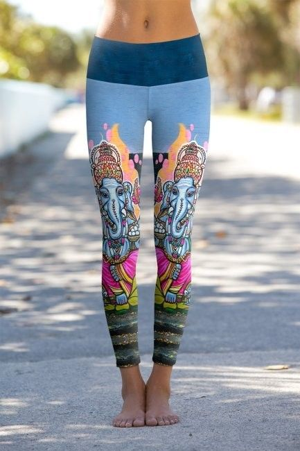 8ba314209f4dd Love these yoga pants! India Ganesha Hindu God - Printed Performance  Leggings