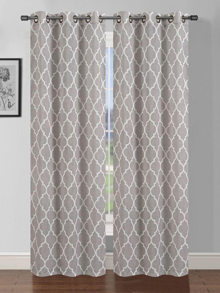 2panel Grommet Linen Curtains Sheer New Design Style Sheer Type