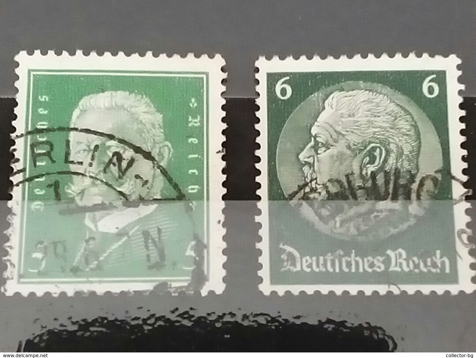 RARE GERMANY EMPIRE 5+6 MARK DEUTSCHE REICH 1929 STAMP