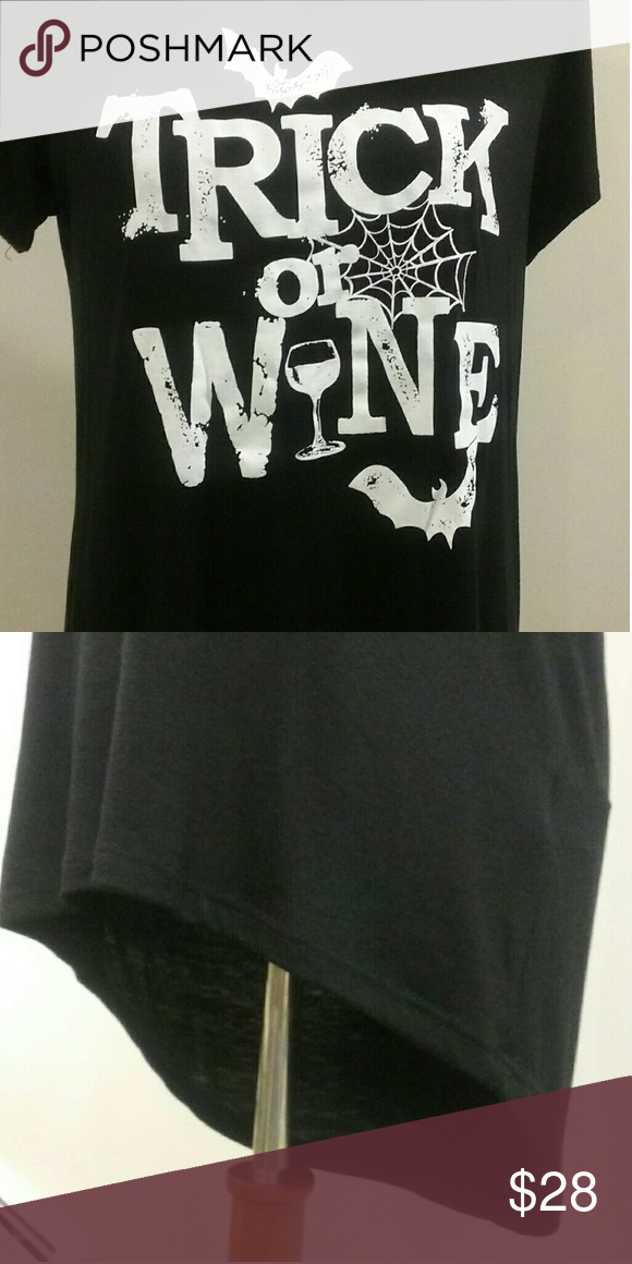 87350dbba Halloween Inspired Truck or Wine T-Shirt Black loose fit graphic t-shirt.  Soft and comfortable material. Long in the back to avoid riding up and  giving you ...