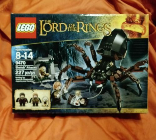 Lego 9470 Sealed Lord of the Rings Shelob Attacks Frodo Gollum Sam Spider Web