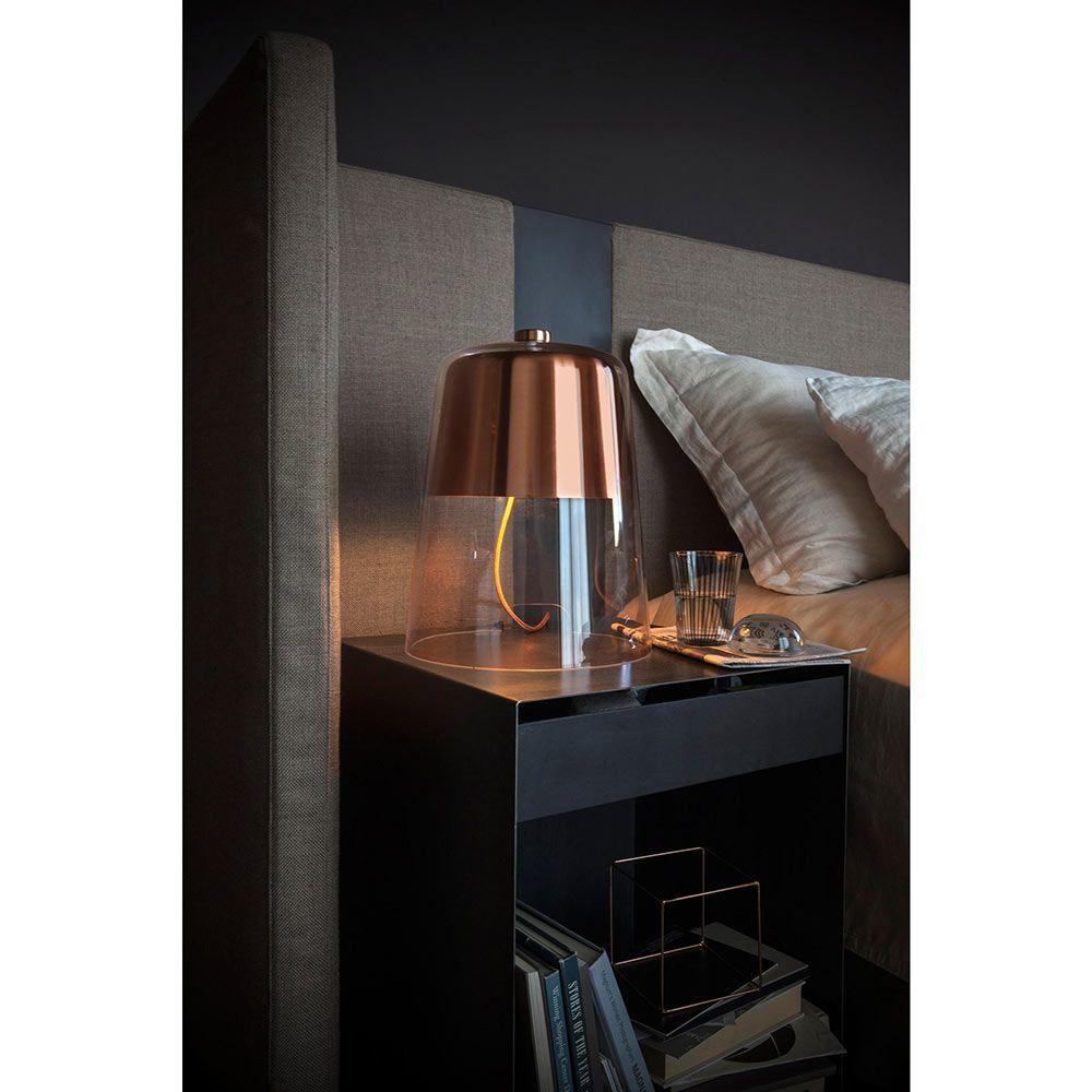 Semplice Table Lamp – Satin Copper | Copper table lamp