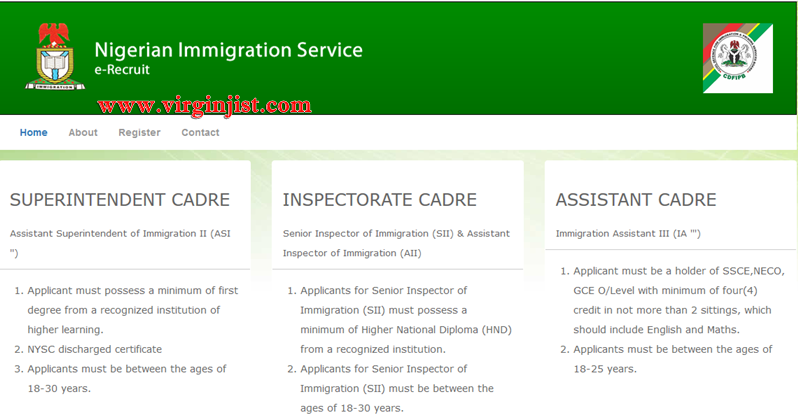 2017/2018 Nigeria Immigration Service Recruitment Form