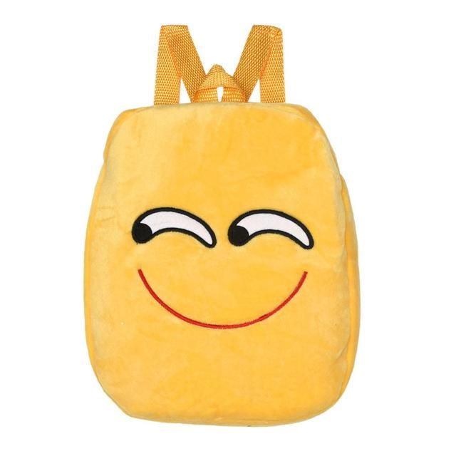 Cheap Price Cute Unique Shape Baby Plush Bag Child School Shoulder Bag Emoji Emoticon Backpack Plush Toys For Kids Girls Boys Christmas Gift Plush Backpacks