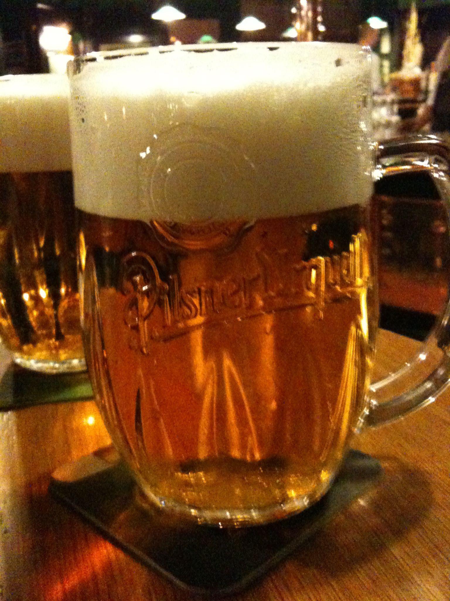 Drink a Pilsner Urquell in Prague, best beer ever!